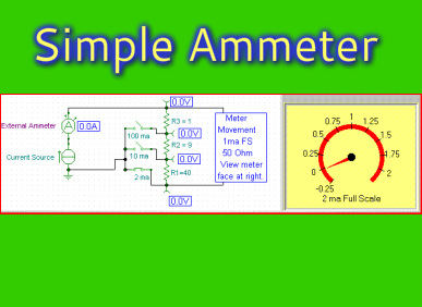 Ammeter Troubleshooting - Electronics Circuit Simulator and