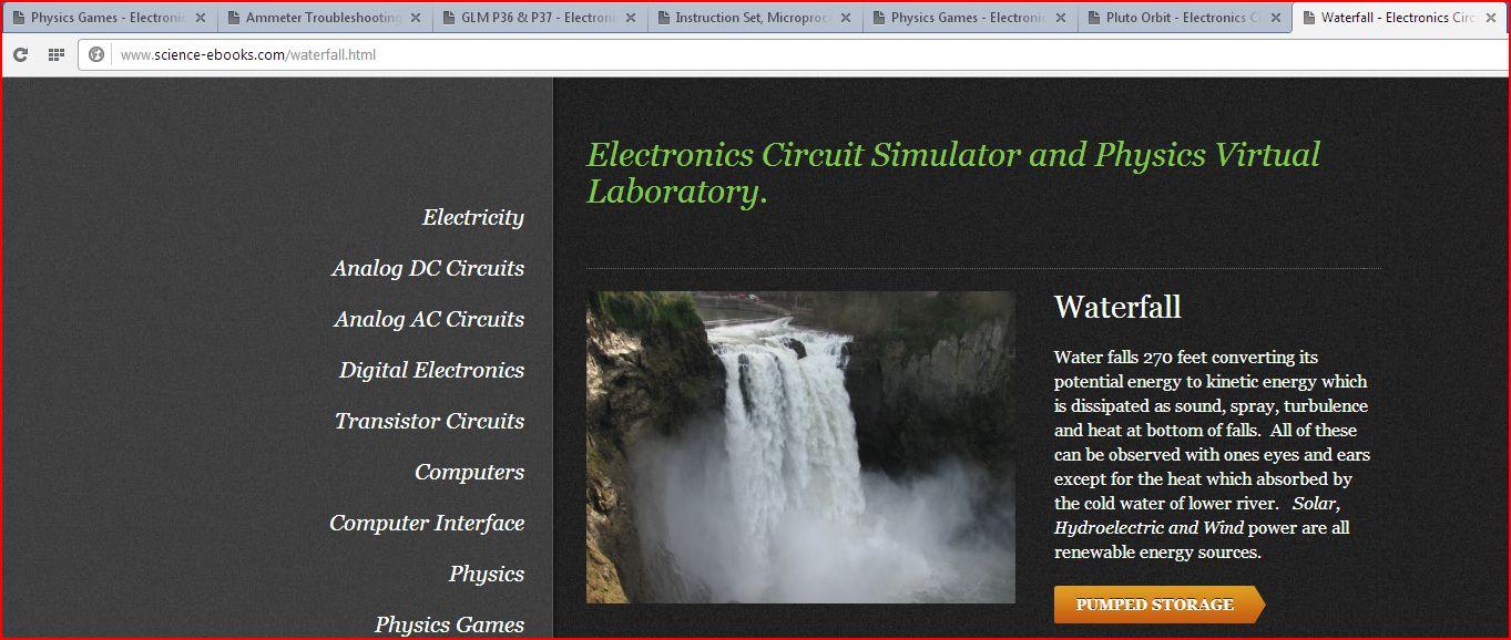Pc Power Teaching Electronics Circuit Simulator And Physics Circuits Virtual Laboratory